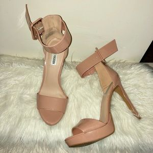 Nude Tan Thick Strap Heeled  Steve Madden Sandal